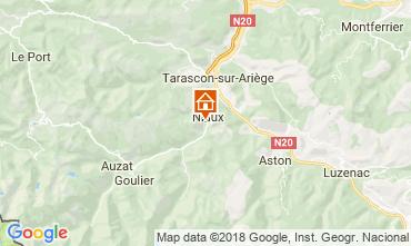 Map Ussat les Bains Vacation rental 95886