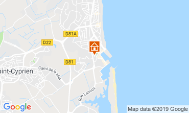 Map Saint Cyprien Plage House 118231