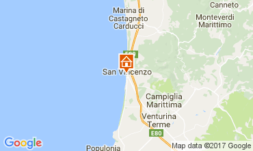 Map San Vincenzo One-room apartment 109991