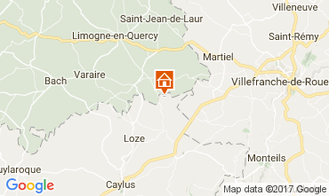 Map Saint-Cirq-Lapopie Vacation rental 51135
