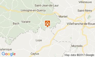 Map Saint-Cirq-Lapopie Vacation rental 51135
