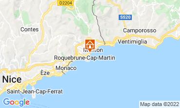 Map Menton Apartment 119398