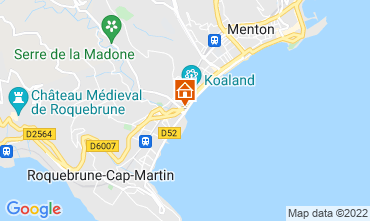 Map Menton Apartment 119398