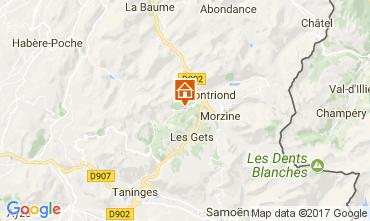 Map Morzine Apartment 112419
