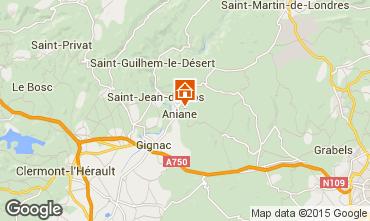 Map Saint Guilhem le Désert Villa 30945