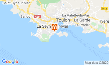 Map Bandol Vacation rental 113184