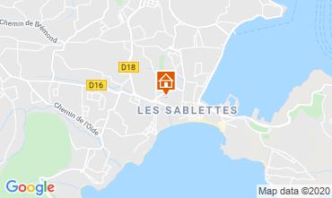 Map La Seyne sur Mer Vacation rental 113184