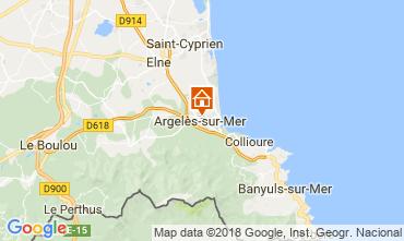 Map Argeles sur Mer House 114357