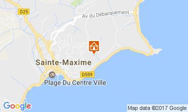 Map Sainte Maxime Villa 108708