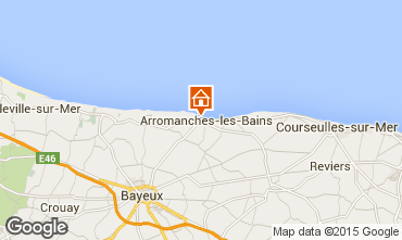 Map Arromanches Vacation rental 81097