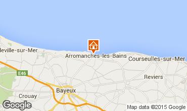Map Bayeux Vacation rental 81097