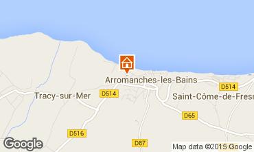 Map Arromanches Vacation rental 81097