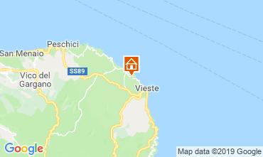 Map Vieste Apartment 76391