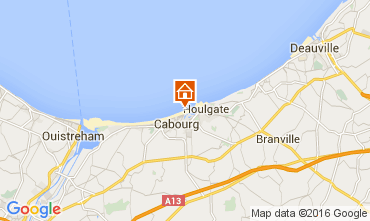 Map Cabourg Apartment 83196