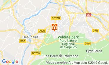 Map Saint Rémy de Provence Vacation rental 118685