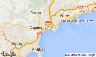 Map Cagnes sur Mer One-room apartment 88047