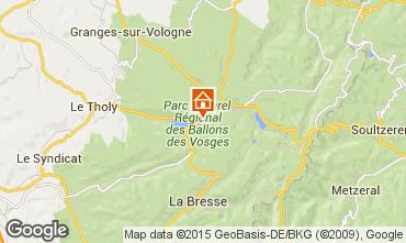 Map Gérardmer Vacation rental 97695