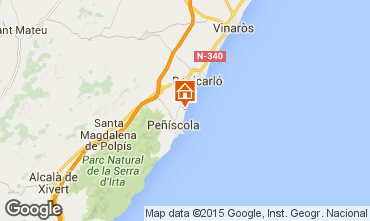 Map Peñíscola Apartment 97510