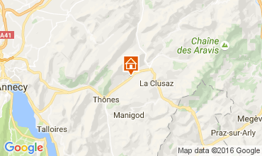 Map La Clusaz Vacation rental 106482