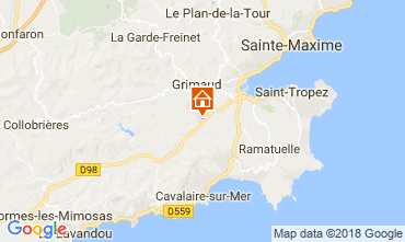 Map Saint Tropez Villa 64669