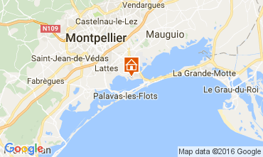 Map Montpellier Mobile home 107400