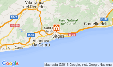 Map Sitges Apartment 105864