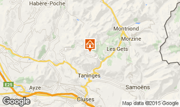 Map Praz de Lys Sommand Chalet 14859