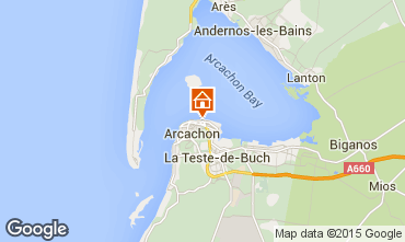 Map Arcachon Apartment 93023