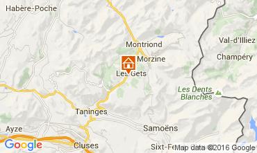 Map Les Gets Apartment 82454