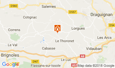 Map Le Thoronet Vacation rental 113716