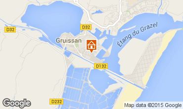 Map Gruissan One-room apartment 29259