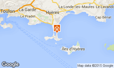 Map Hyères One-room apartment 83506