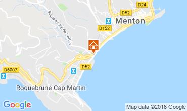 Map Menton One-room apartment 112899