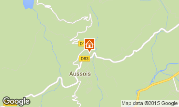 Map Aussois Vacation rental 58490