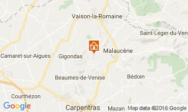 Map Vaison la Romaine Vacation rental 95444