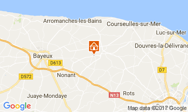 Map Bayeux Vacation rental 111364