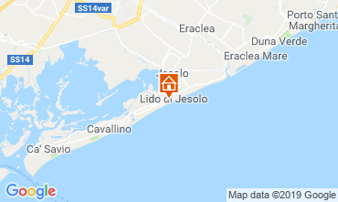 Map Jesolo Apartment 75928