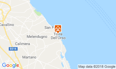 Map Torre dell'Orso Apartment 108860