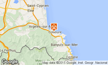 Map Collioure Apartment 9149