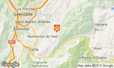 Map Chamrousse Apartment 36119