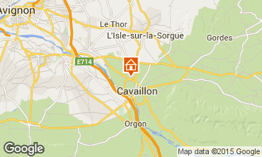 Map Cavaillon Apartment 98672