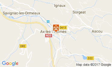 Map Ax Les Thermes Apartment 110888