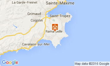 Map Ramatuelle Vacation rental 104481