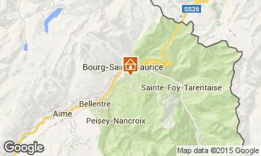 Map Les Arcs Chalet 27529