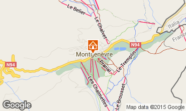 Map Montgenevre One-room apartment 38929