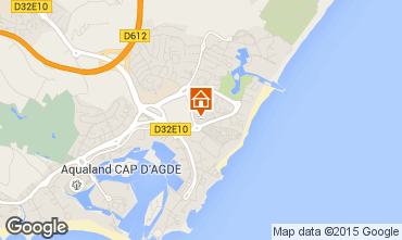 Map Cap d'Agde Apartment 98120