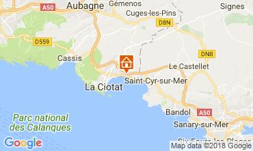 Map La Ciotat One-room apartment 104178