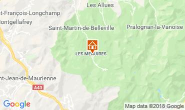 Map Les Menuires One-room apartment 117573