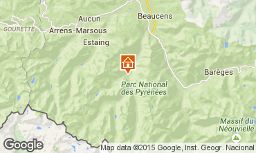 Map Cauterets One-room apartment 4110