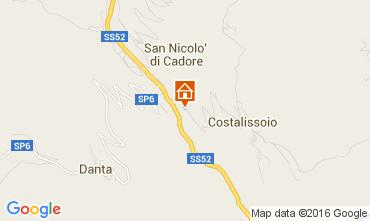 Map Santo Stefano di Cadore Apartment 105295